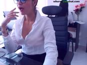 young secretary masturbate on workplace