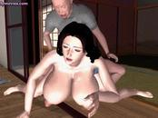 Animated wife with huge melons