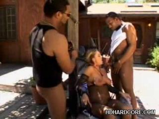 Hardcore Interracial Foursome