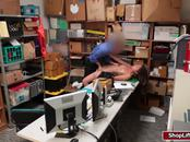 Shane Blair caught stealing and gets her pussy fucked by LP officer
