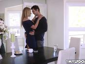 Rachael Cavalli lets the stud fuck her tight milf pussy