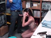 Hot milf Sofie is taken to office when caught stealing by horny officer