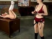 Rough femdom teacher disciplining babe