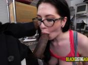 Blue eyed beauty gets her cunt drilled by horny casting director