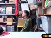 Petite asian teen thief likes her punishment