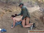 Lucky guy cops first time Kayla West was caught lusty patrool during