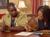 Couple is nervous and carefull about their whole swinger experience