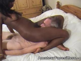 Brazen Ebony Slut Sits On Face
