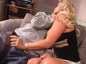 Busty blonde wife enjoys fellatio & fucking
