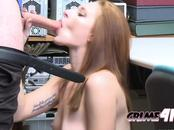 Hot redhead gets hard fucked by the guard that caught her stealing from his shop at a mall. Join us.