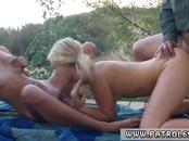 Brunette garter belt and mature wife blowjob Amateur Threesome for
