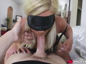 Step bros blowjob trick Kenzie Green blind folded
