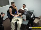 Officers make skinny criminal drill their coochies at police