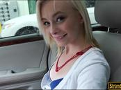 Blonde teen babe Maddy Rose gets her pussy boned in the car