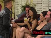Counselor receives horny swinger couple at the mansion