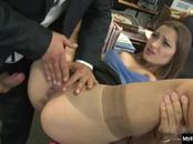 Dani Daniels is a naughty secretary, who has dirty blonde hair and a