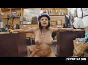 Ivy Rose Wearing Helmet Riding Dick In Pawn Shop
