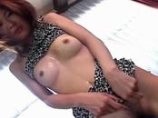 Horny Yuri Nishizawa cum on tits!