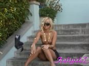 Sweet Aaliyah Love Gets Naked In The Street