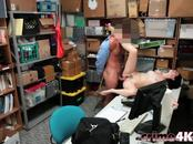 Thief Alex Gets Hairy Pussy Pounded In Office