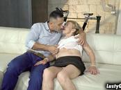 Cock hungry grandma Malya fucked by a hot stud