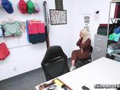 Milf shoplifter spread her leg wide open for the security officer