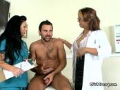Horny Sexy Doctors Blow Well Endowed Patient