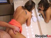 Naughty teen Charlotte Cross gets blindfolded and hammered