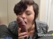 Short haired hottie is subdued into riding horny directors big black cock