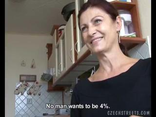 Horny Czech Mom  Gives BJ To A Lucky Boner