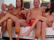 Interracial swinger group sex at mansion