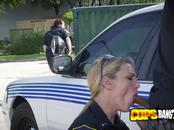 Suspect is taken in custody by horny milf cops who subdue him roughly