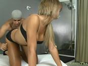 Curvy shemale Teacher Arielle gets her asshole rammed
