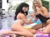 2 amazing lesbians Paulina and Dianna lick one another's pussies and enjoy getting fuck with dildo