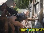 Horny rastaman creampied hot police MILFs