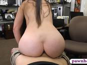 Sexy woman banged by nasty pawn keeper at the pawnshop