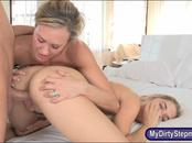 Lia Lor and Brandi Love fucked on turns in the bedroom