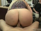 Blonde huge tits anal and free public handjob Make that money!