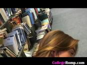 Doggystyling Lovely Blonde Ex Girlfriend In College Library
