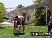 Swinger couples enjoy carnal experience in an open Swing House. New episodes of open swing house.
