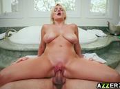 Busty blonde Katy Jayne fucks with Logan Long