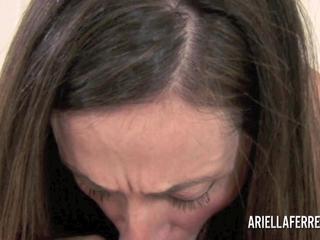 POV blowjob from busty MILF Ariella Ferrera