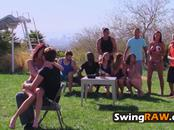 Couple gets their innocence taken away at the hottest swinger party ever
