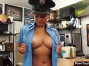 Hot busty police woman fucked in hardcore by a pawn guy