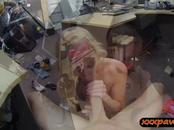 Tiny tits lady fucked by horny pawn guy at the pawnshop