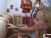 Hot ass pledges licking pussies with sorority sisters