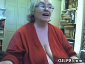 Large Grandma Masturbating