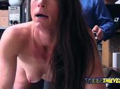 Milf Sofie is blackmailed when proven guilty of stealing at store
