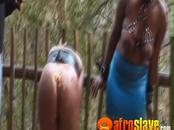 Kinky black milf tied and banged hard