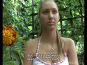 Hot-Assed Girl Licks Strangers Dick Outdoors For Money